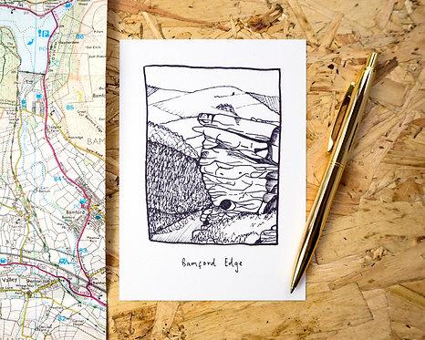 Bamford Edge Postcard // Mini Print