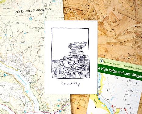 Derwent Edge Postcard // Mini Print