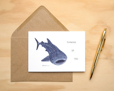 Thinking of You Whale Shark // Friendship Card