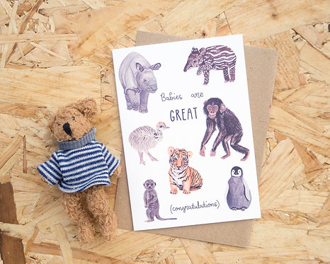 Babies are GREAT // New Baby Card