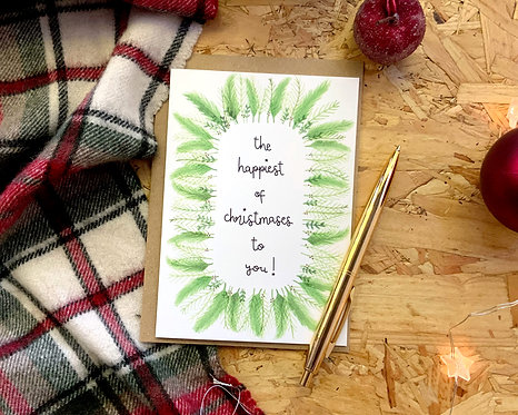 The Happiest of Christmases To You // Christmas Card