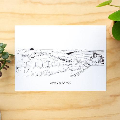 Sheffield to the Peaks Illustration Print
