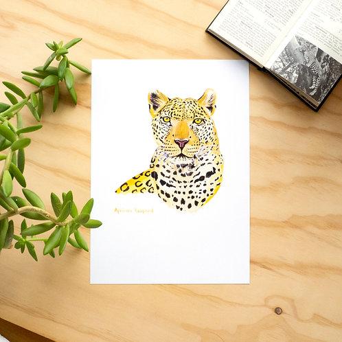 African Leopard Print // A4