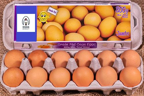 Grain Fed 800g Jumbo dozen eggs