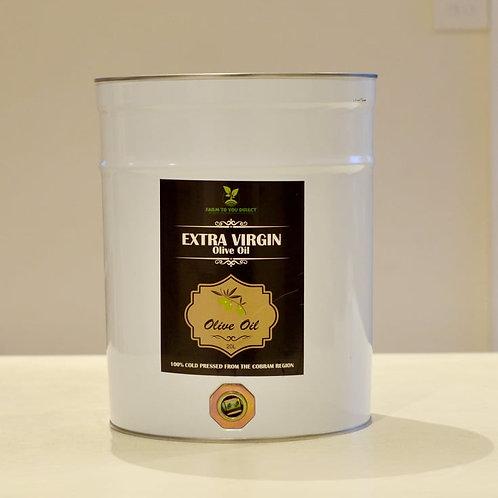 20 LITRE EXTRA VIRGIN COLD PRESSED OLIVE OIL