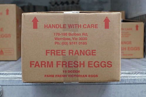 Free Range 800g box of eggs includes 15 dozen cartons