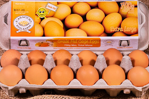 Grain Fed 700g Extra Large dozen eggs