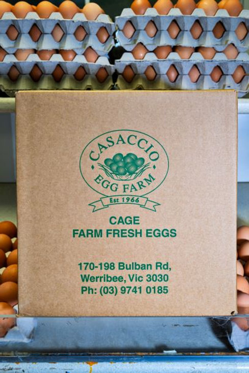Retail Grain Fed 800g box of eggs includes 6 trays of 30 eggs per tray
