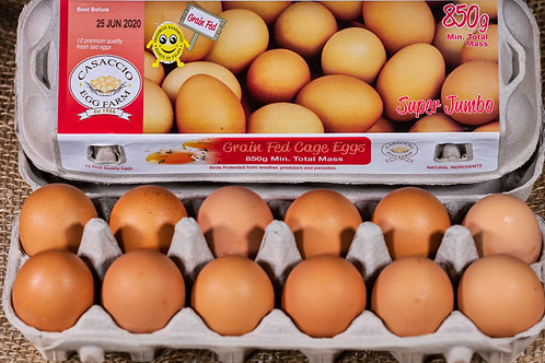 Grain Fed 850g Super Jumbo dozen eggs