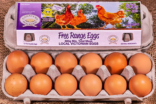 Free Range 800g Jumbo dozen eggs