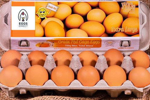 Grain Fed 700g Extra Large dozen eggs