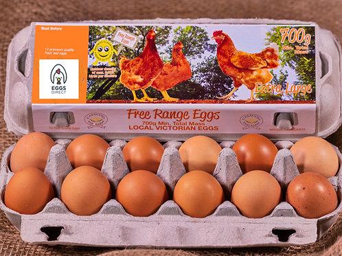 Free Range 700g Extra Large dozen eggs