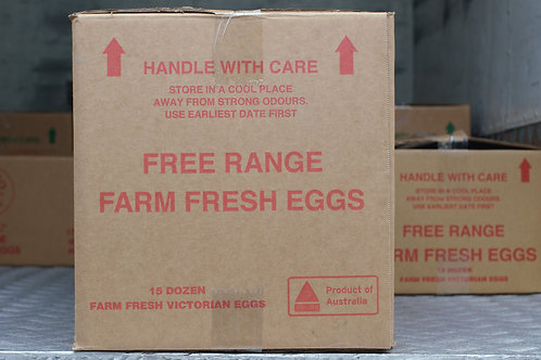 Retail Free Range 700g Box of Eggs includes 6 Trays of 30 eggs per tray