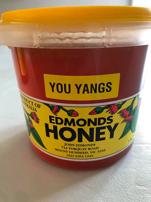 1 Litre Tub of All Natural You Yangs Honey