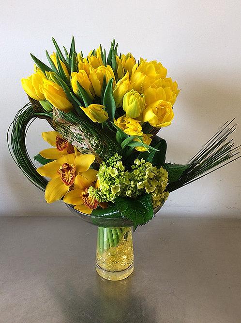 Yellow Graceful Tulips