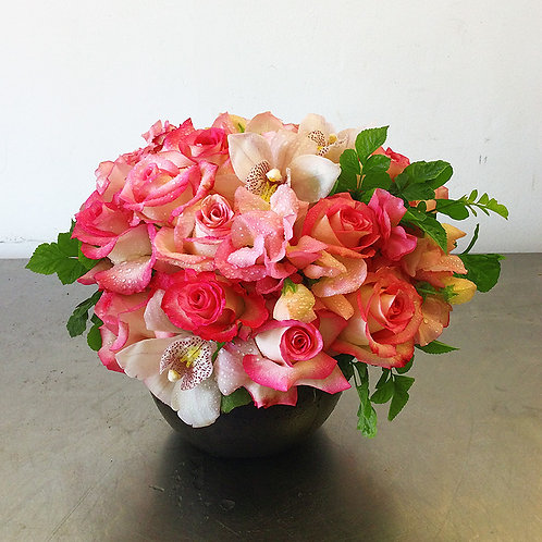 Rose Bowl with Orchids