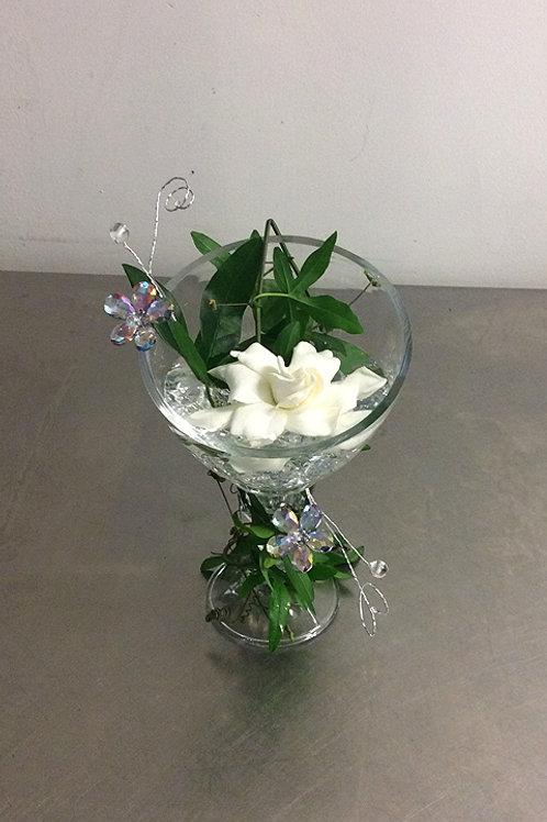 Single Gardenia Pedestal