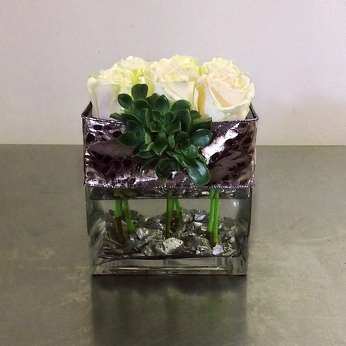 Rose Box with Succulents