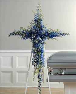 Standing cross wreath