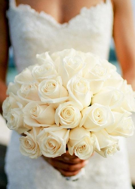 Round Hand Tied Bridal Bouquet