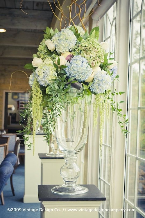 Tall Flower Arrangement on glass vase #2