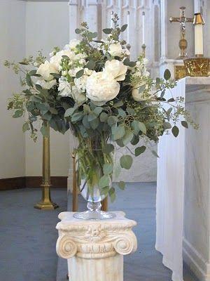 Tall Flower Arrangement on glass vase