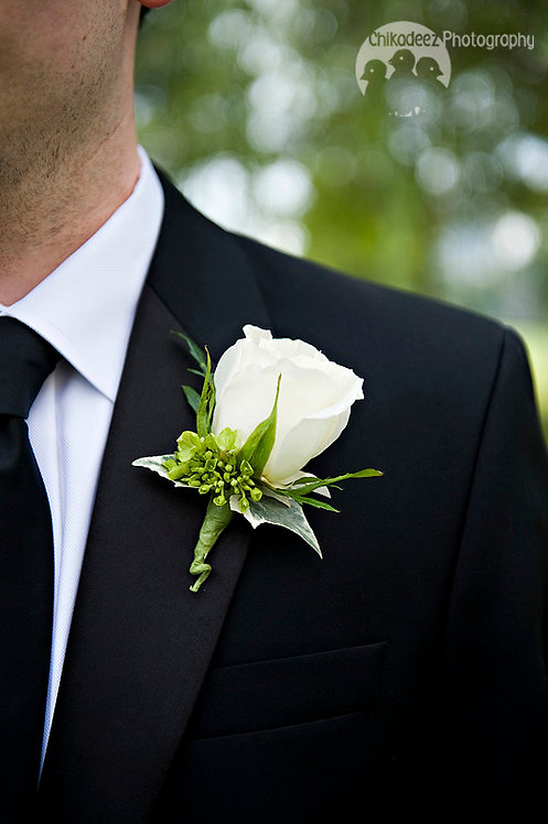 Grooms Boutonnieres Single Rose