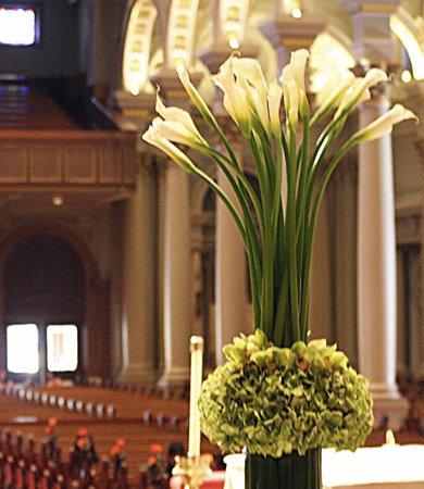 Tall Flower Arrangement on pedestal
