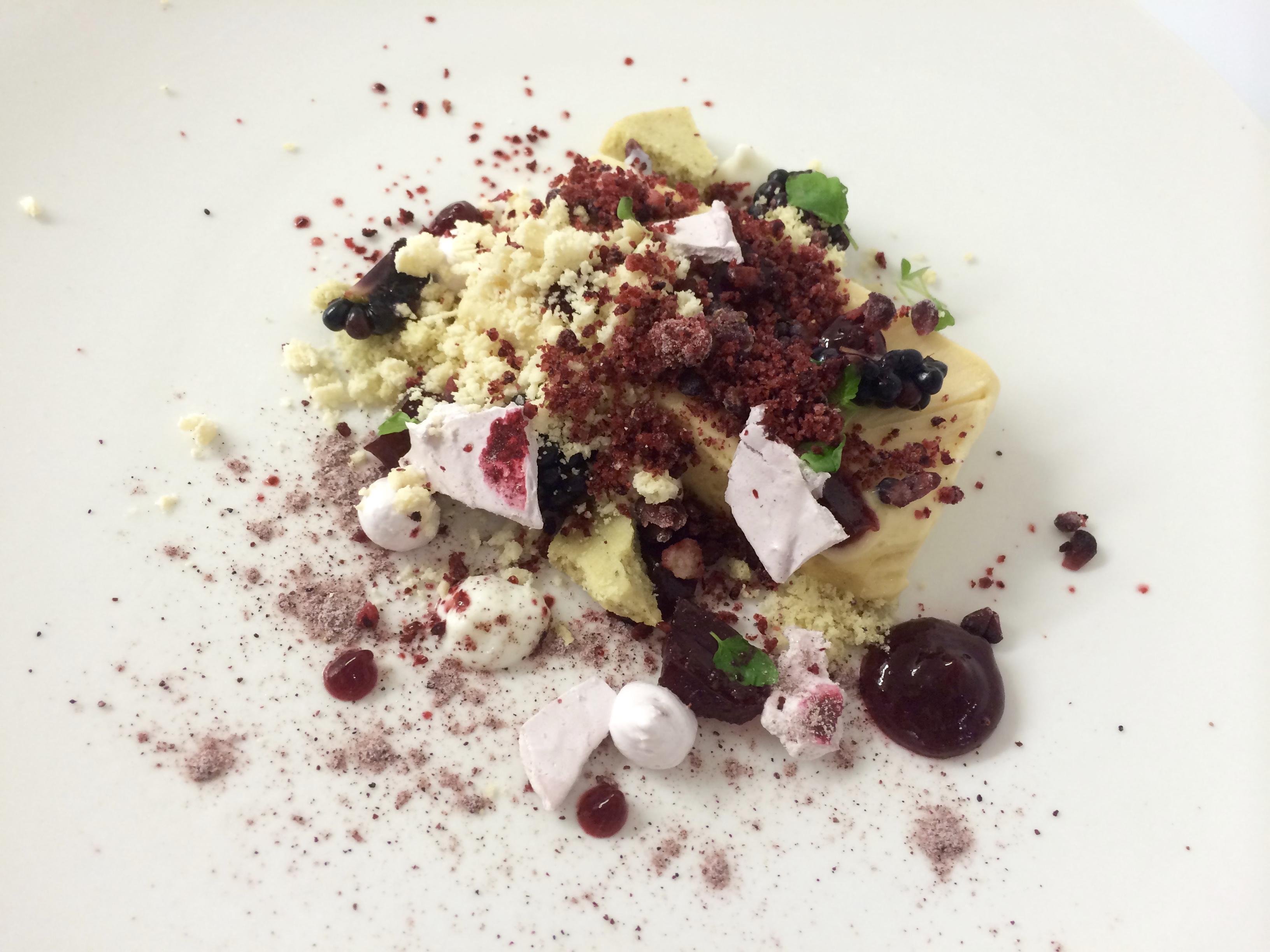 White chocolate,rosemary,blackberry