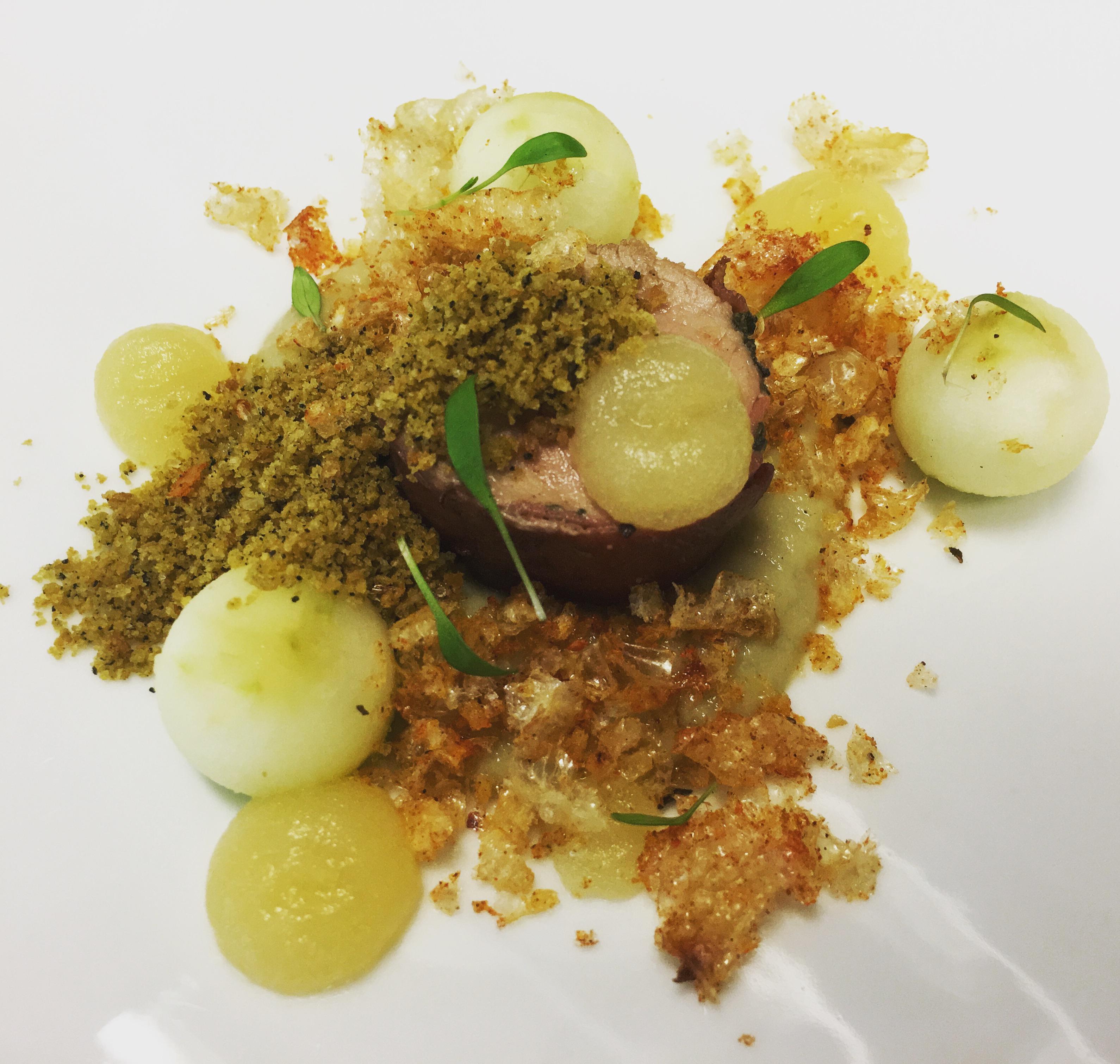 Pork, sage, white onion, apple
