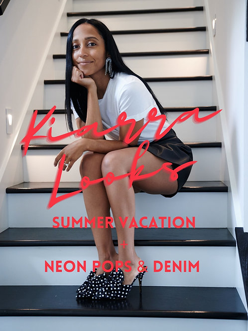 Summer Vacation Styles + Neon Pops & Dose of Denim