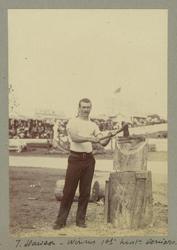 Winner of the woodchopping competition a