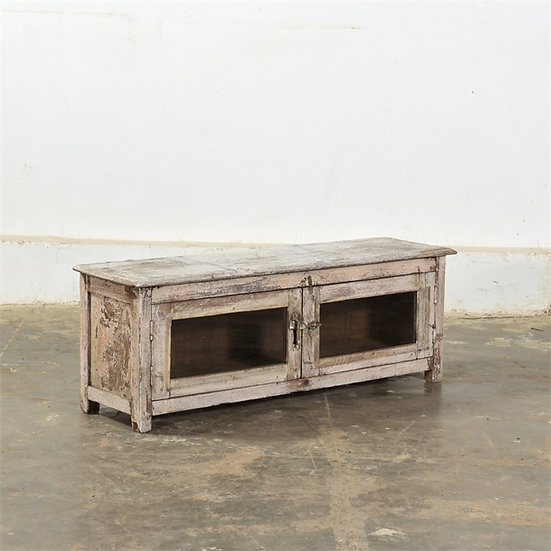 Wooden sideboard with glass