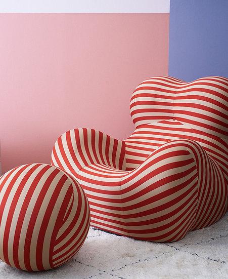 Stripe Arm Chair