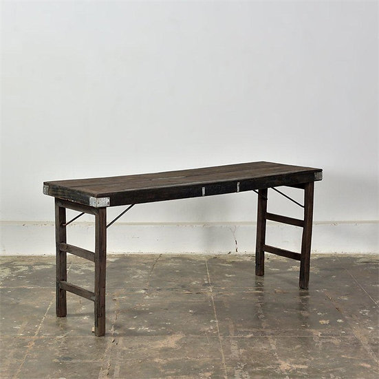 Folding table dark brown