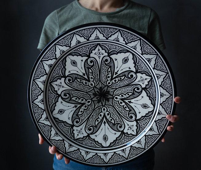 Marockansk keramik Skål 40 Cm Black