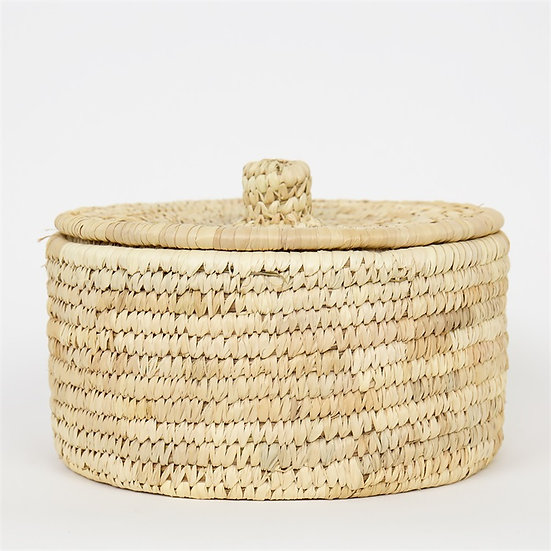 PALM UNIT Basket w lid M, natural