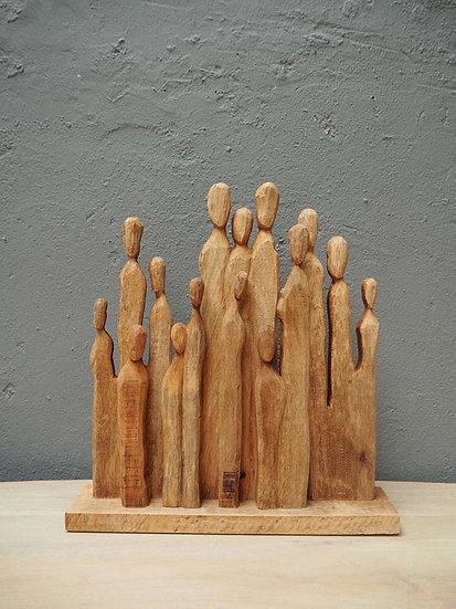 Wooden sculpture generations