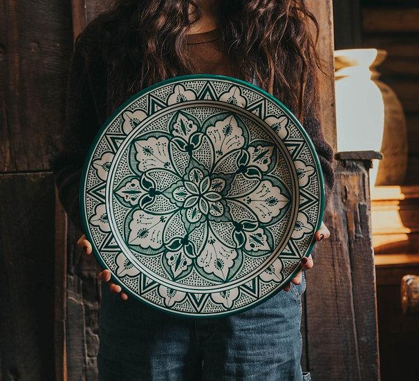 Marockansk keramik Skål 40 Cm Green