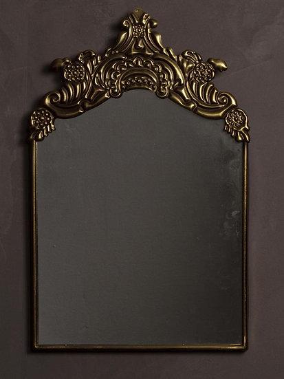 Golden patina embossed mirror Rocco