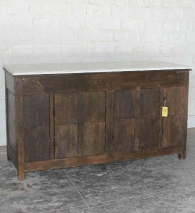 Wooden sideboard with marble top