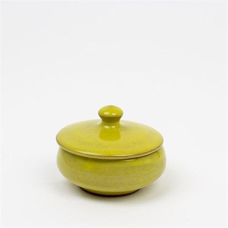 Miniskål m lock, gul
