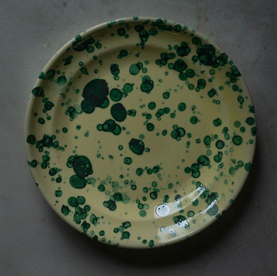 Middagstallrik Spruzzi Green/yellow 28 Cm