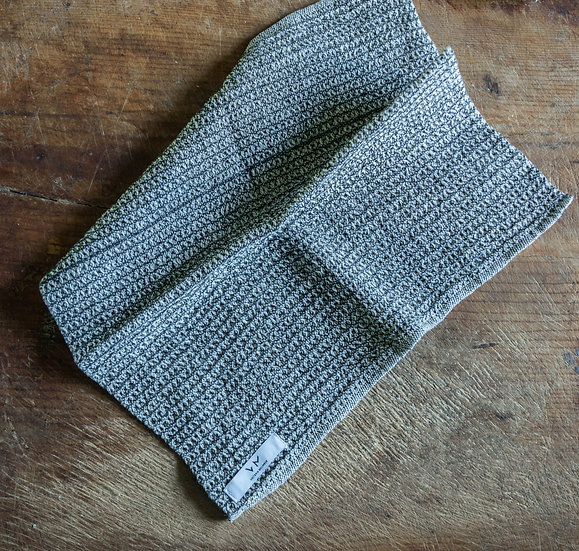 Washcloth Beige/ Black