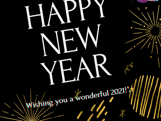 Happy New Year - 2021 is here!