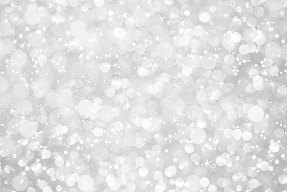 white silver glitter bokeh with stars ab