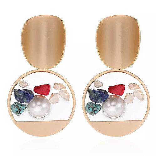 Transparent Stone Earring