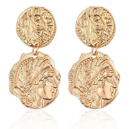 Coin Drop Earring