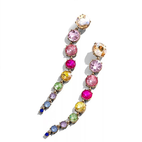 Long Jeweled Drop Earring
