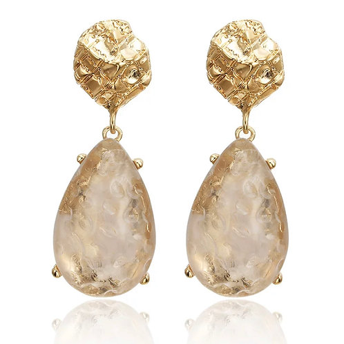 Large Crystal Stone Drop Earring